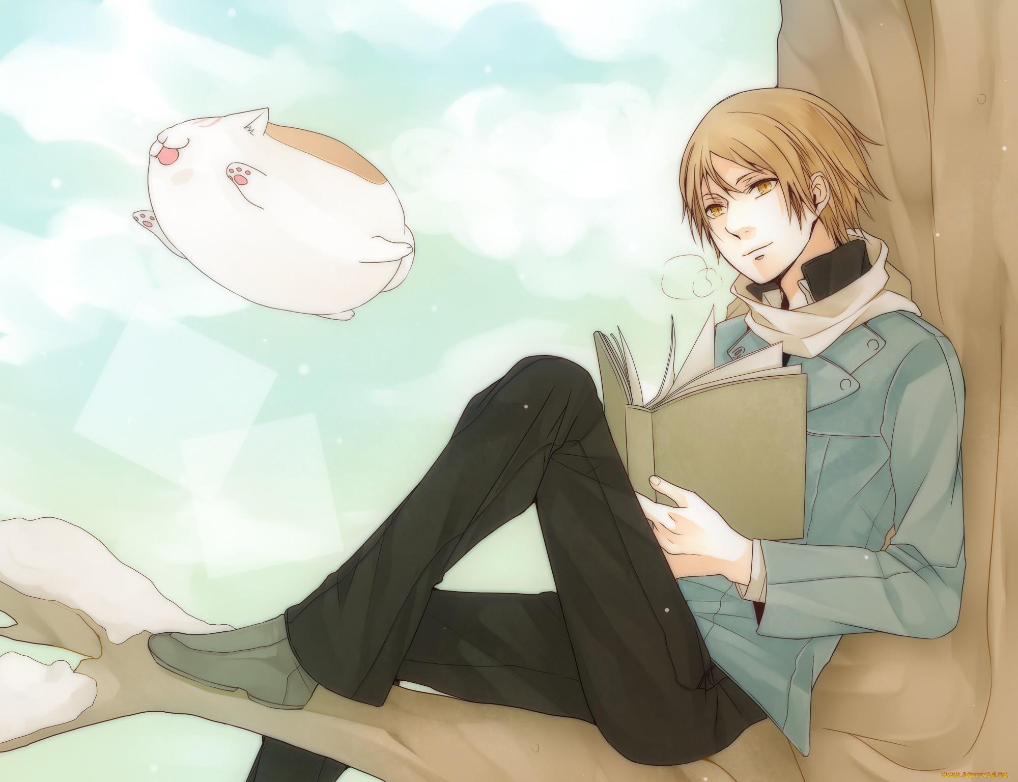 Картинки аниме сидящий парень